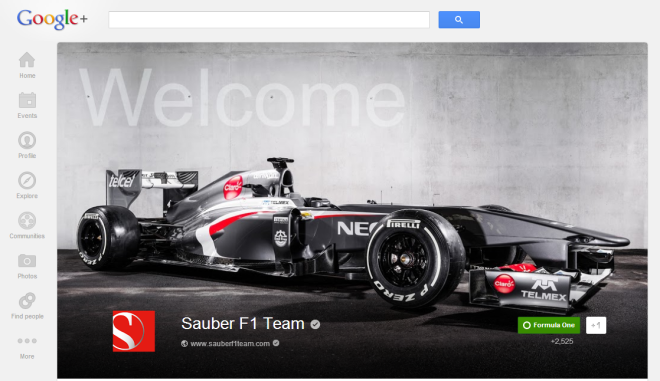 sauberF1_googleplus