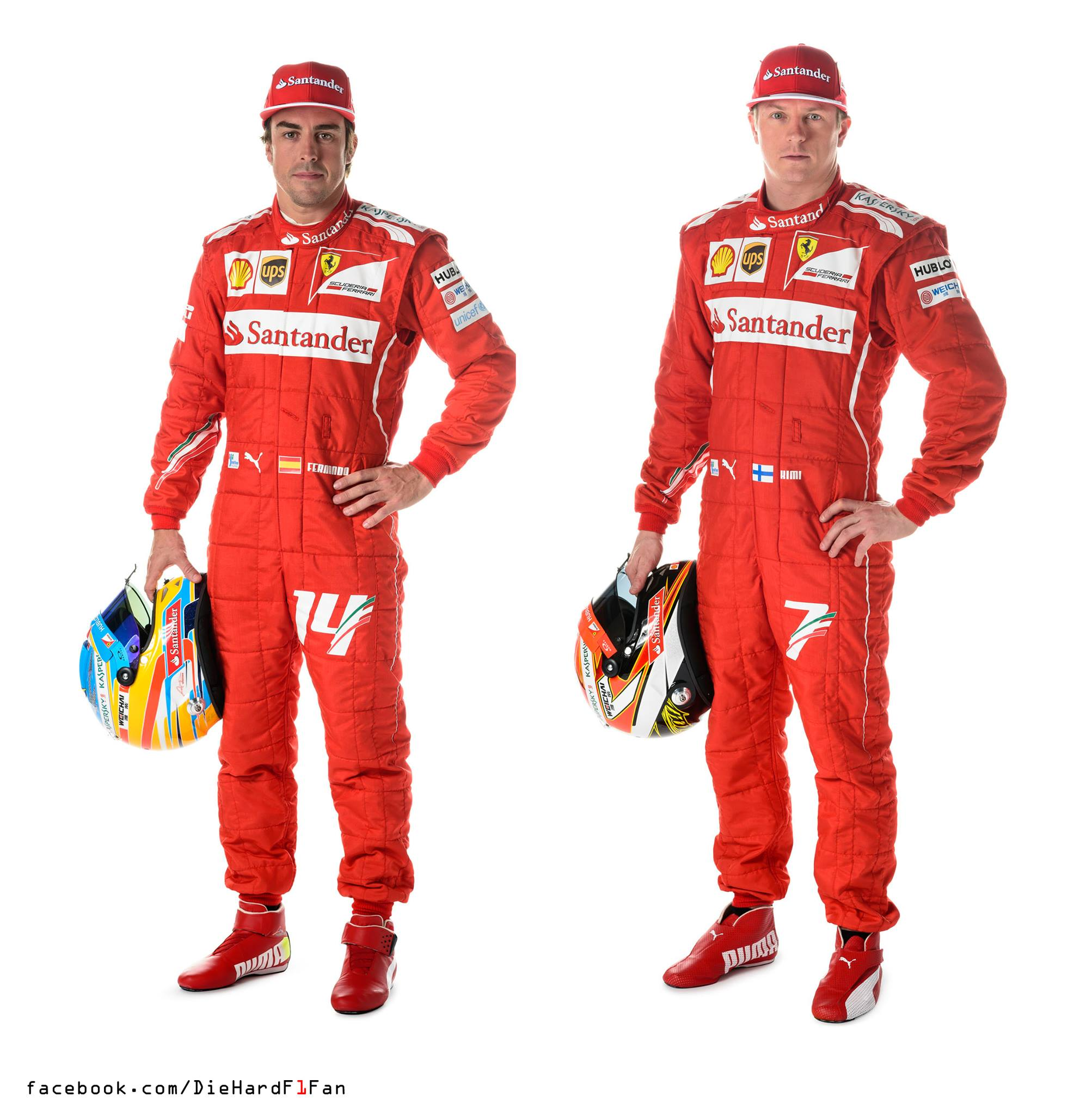 The Two Ferrari Drivers Fernando Alonso And Kimi